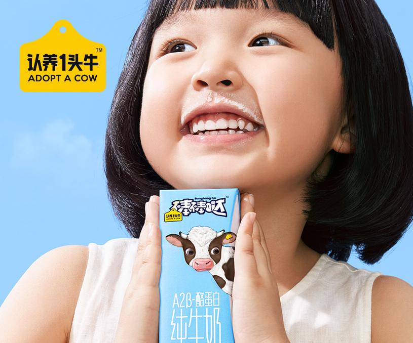 认养一头牛A2β儿童奶产品全案策划设计